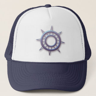 Ship's Compass Wheel Trucker Hat