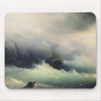 Ships in a Storm Mouse Pad