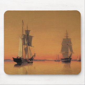 Ships in Boston Harbor - William Bradford Mouse Pad