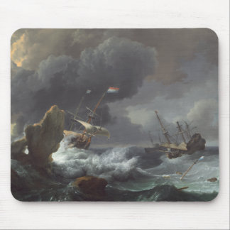 Ships in Distress off a Rocky Coast Mouse Pad