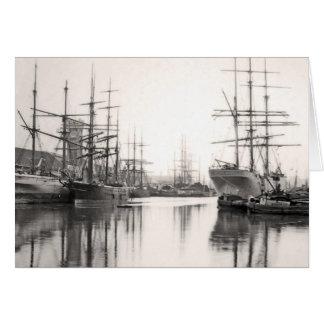 Ships in Harbor Card