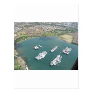 Ships in Oahu Postcard