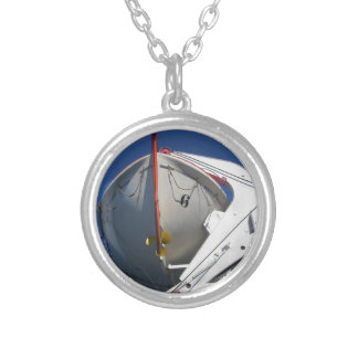 Ship's Lifeboat Silver Plated Necklace