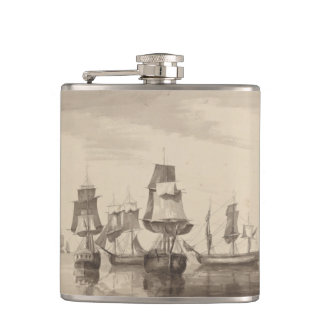 Ships of 26th June 1776 Hip Flask