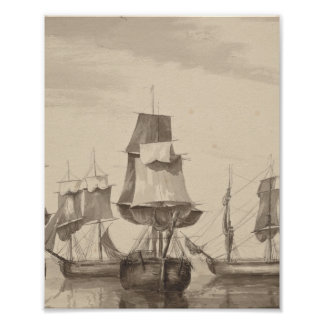 Ships of 26th June 1776 Poster
