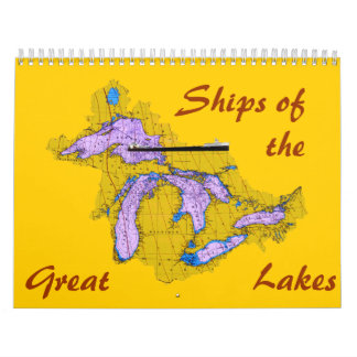 Ships of the, Great, Lakes Wall Calendar