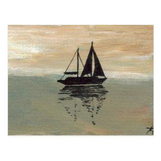 "Ships of the Imagination ""Sailboat Reflections""  C Postcard"