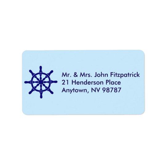 Ship's Wheel Address Label