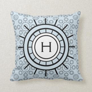 Ship's Wheel and Circles with Custom Monogram Cushion
