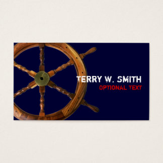 Ships Wheel Business Card