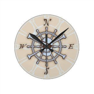 Ship's Wheel Compass Rose Wallclocks