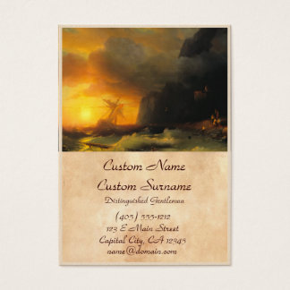 Shipwreck at Mount Athos Ivan Aivasovsky seascape Business Card