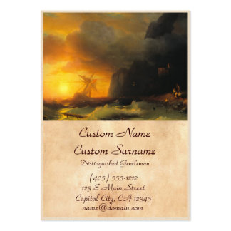 Shipwreck at Mount Athos Ivan Aivasovsky seascape Pack Of Chubby Business Cards