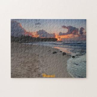 Shipwreck Beach at Kauai Sunrise Puzzle