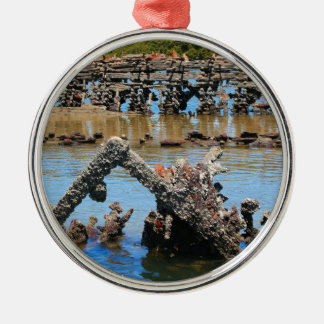 Shipwreck in the mangroves metal ornament
