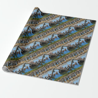 Shipwreck in the mangroves wrapping paper