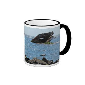 Shipwreck & Lighthouse Ringer Coffee Mug