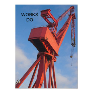 Shipyard Crane Works Do Invitation