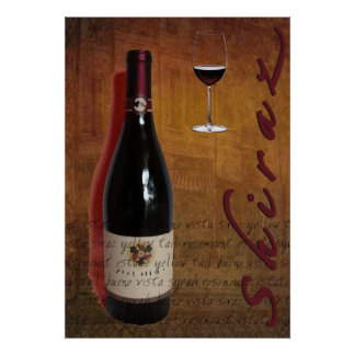 shiraz wine poster