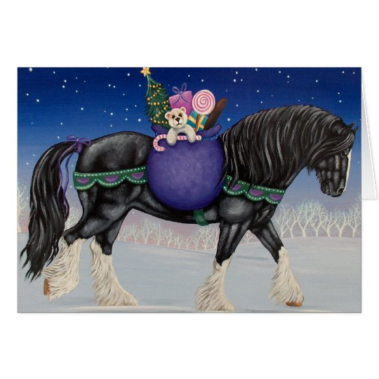 Shire Draught   Horse Christmas Card