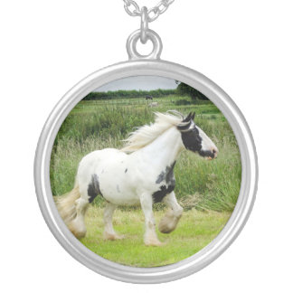 Shire paint horse trotting Necklace