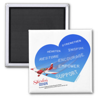 Shirlee's Skywriting Magnet 2 Inch Square Magnet