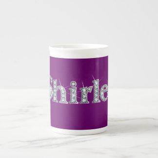 "Shirley ""Diamond Bling"" Bone China Mug"