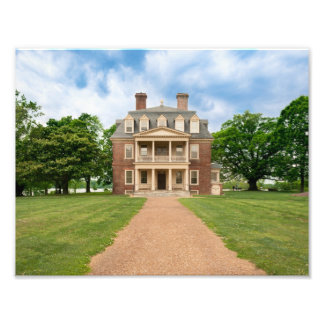 Shirley Plantation - Great House Photographic Print