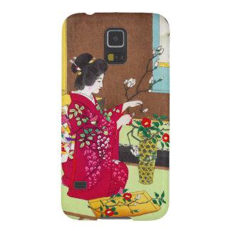 Shiro Kasamatsu Ikebana japan flowers lady scene Galaxy S5 Case