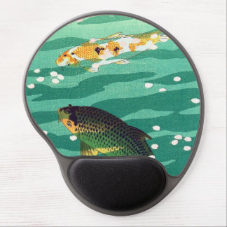 Shiro Kasamatsu Karp Koi fish pond japanese art Gel Mouse Pad