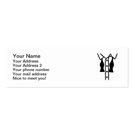 Shirt bow tie business cards