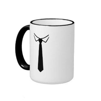 Shirt collar tie coffee mugs