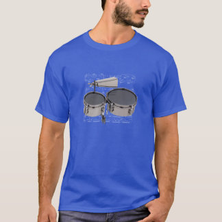 Shirt (dark) Timbales & cowbell (Pick your color)