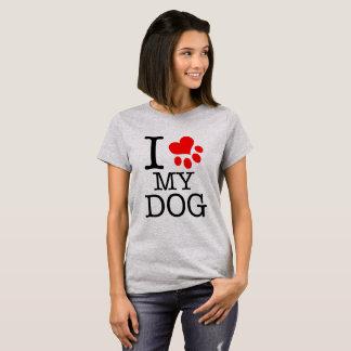 Shirt femininaI love my dog