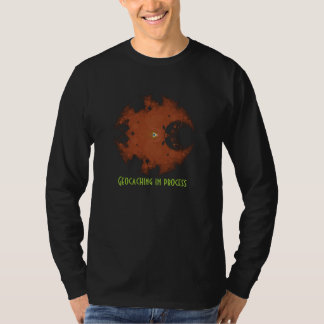 shirt geocaching in process for geocacher