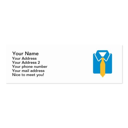Shirt tie suit business cards