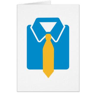 Shirt tie suit cards