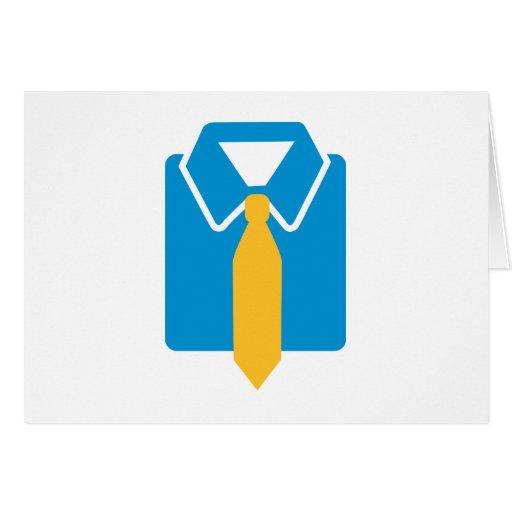 Shirt tie suit card