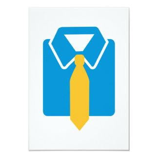 Shirt tie suit personalized invitation