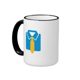 Shirt tie suit coffee mugs