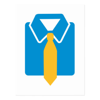 Shirt tie suit postcard