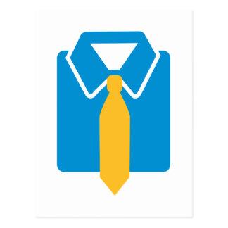 Shirt tie suit postcard