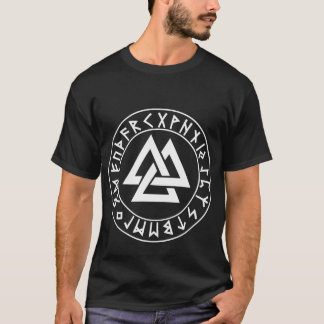 shirt Tri-Triangle Rune Shield on Blk