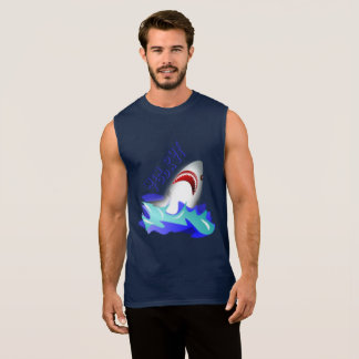 Shirt type surfer drawing shark