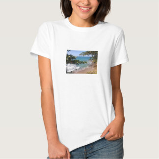 Shirt with beach landscape