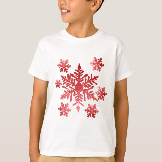 Shirt with Red Snowflakes