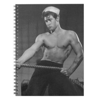 Shirtless Sailor Notebook
