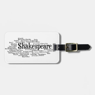 Shirts, Bags, etc. Inspired by Shakespeare's Plays Luggage Tag