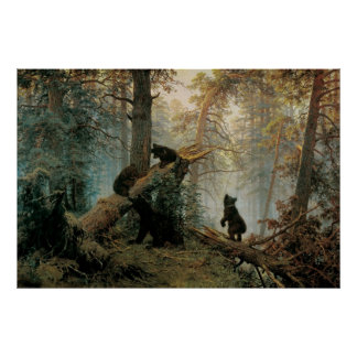 Shishkin, Ivan - Morning in a Pine Forest Poster