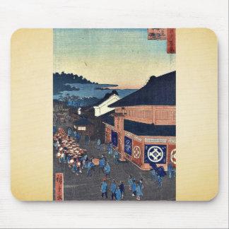 Shitaya Hirokoji by Ando, Hiroshige Ukiyoe Mouse Pads